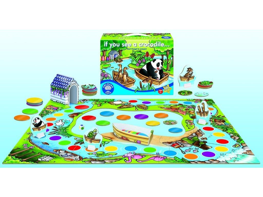 7567 kdo uvidi krokodyla spolecenska hra