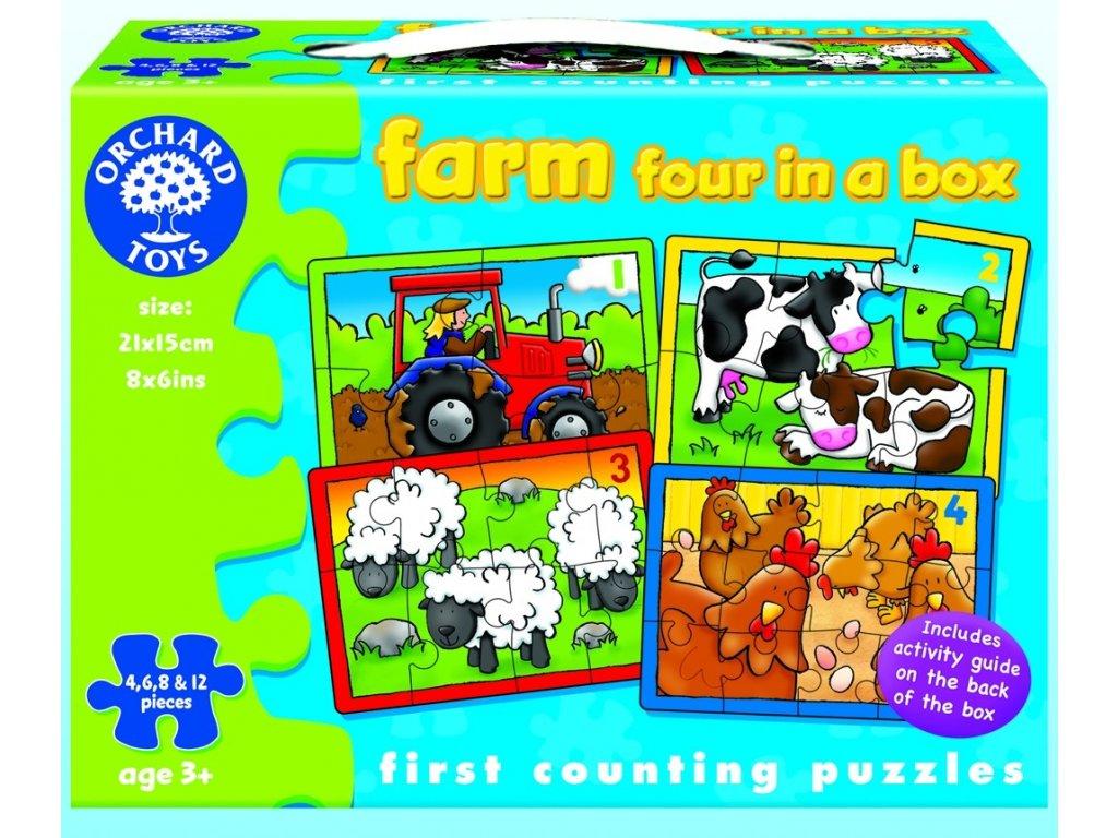 7579 mala farma male pocitani kartonove puzzle 4 6 8 12 dilku 21 x 15 cm