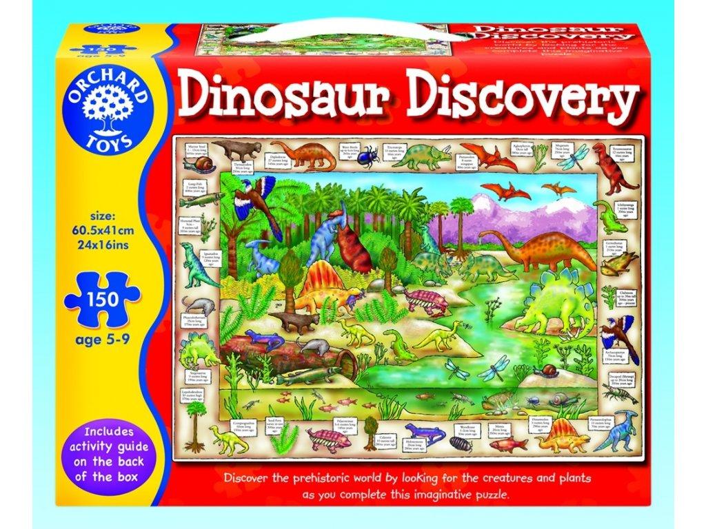 7600 objevovani dinosauru anglicke popisky kartonove puzzle 150 dilku 60 5 x 41 cm