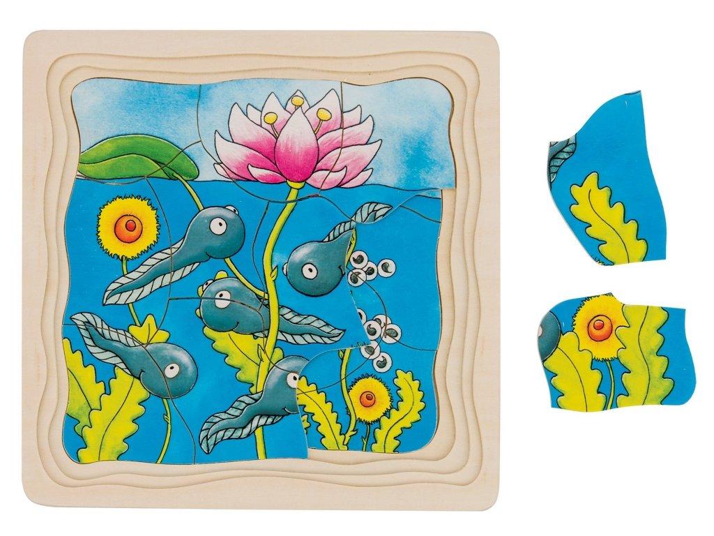 7639 zaba 4 vrstve puzzle 20 x 20 x 1 5 cm 44 dilu