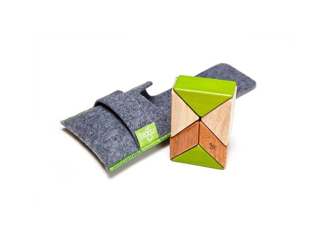 """Tegu - váček s magnetickými dřevěnými kostkami """"Jungle"""" (6ks)"""