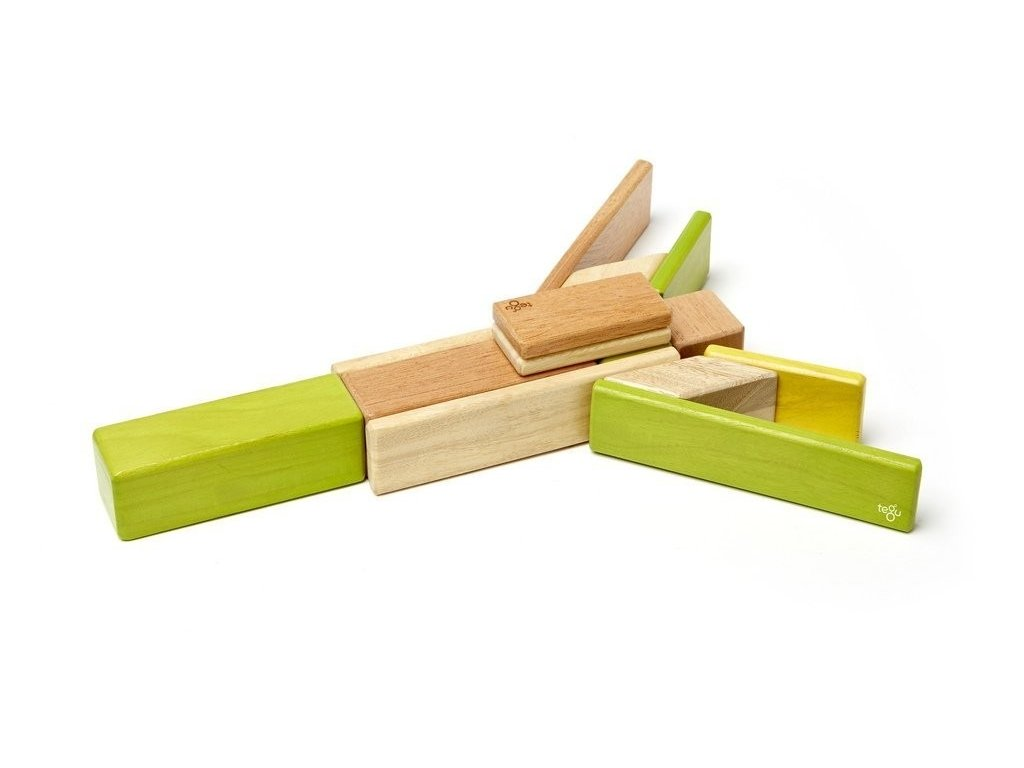 """Tegu - sada s magnetickými dřevěnými kostkami """"Jungle"""" (14ks)"""
