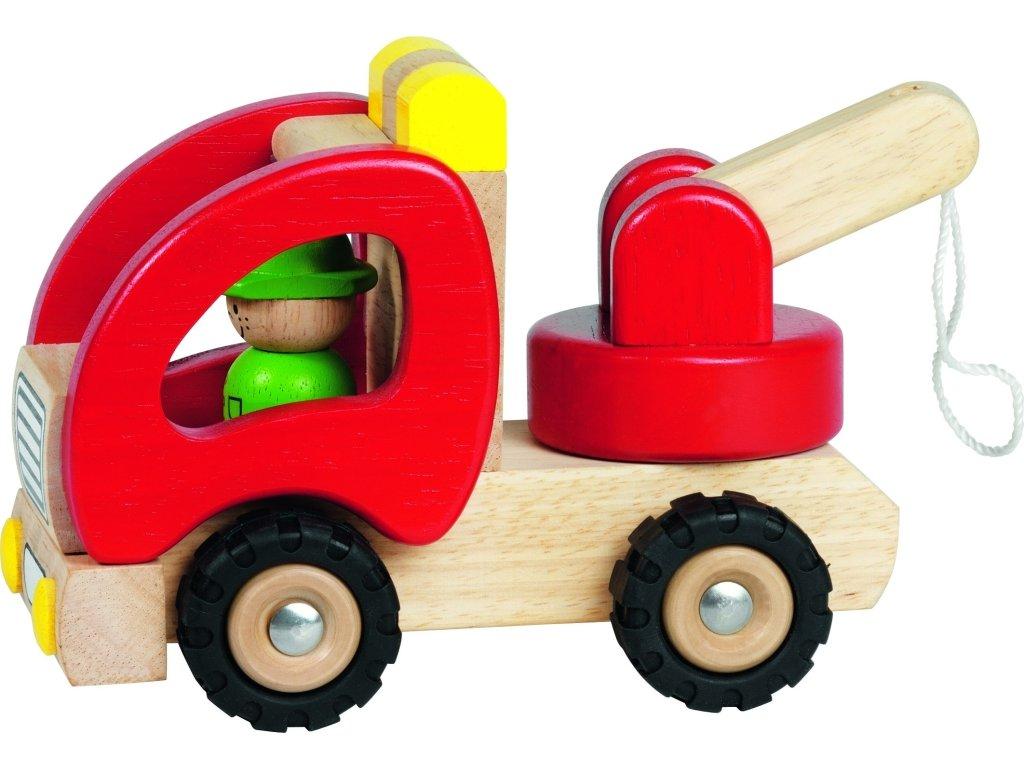 Dřevěné autíčko - ODTAHOVACÍ