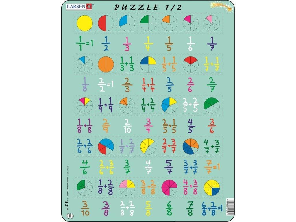 7744 zlomky puzzle 35 dilku