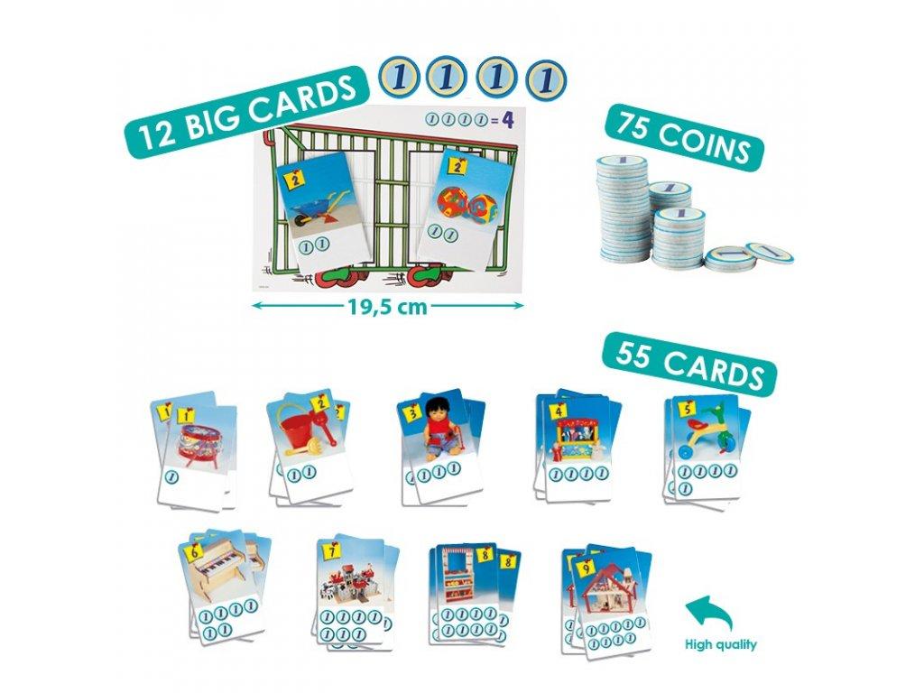 7885 nakupni kosik 12 karet nakupnich kosiku 55 karticek s obrazky hracek 75 korunek