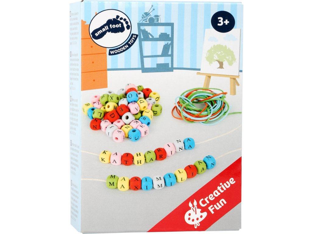 8092 kreativni set provlekaci barevna abeceda