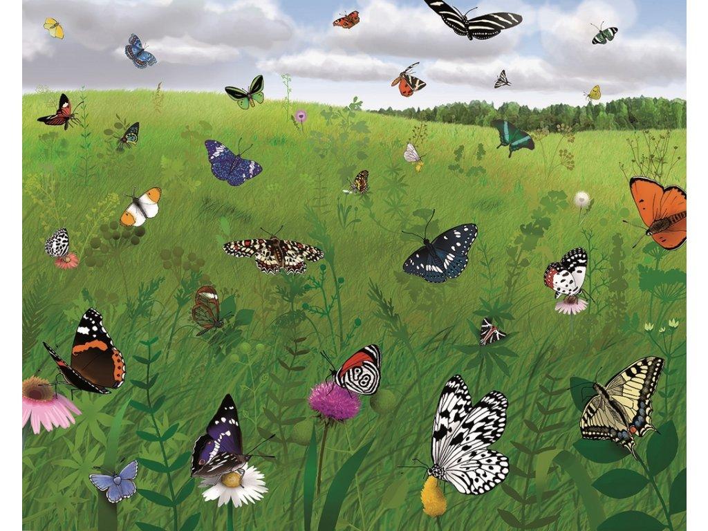 8215 puzzle motyli zahrada