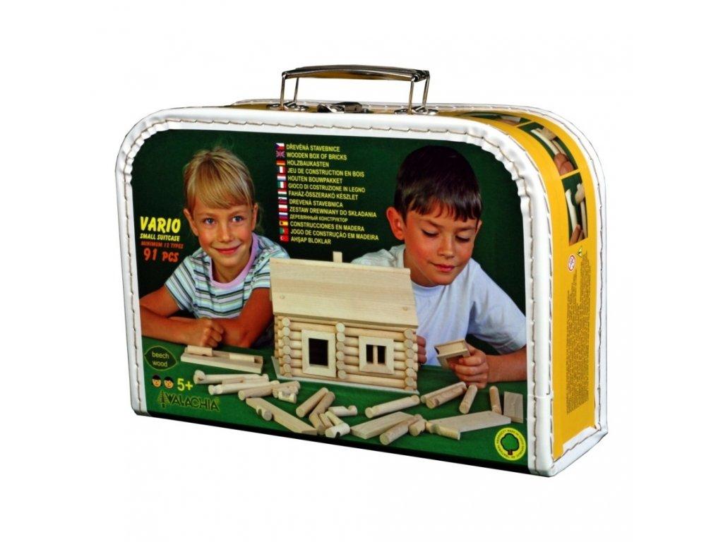 8342 ceska drevena stavebnice walachia vario suitcase 91 kusu kufrik
