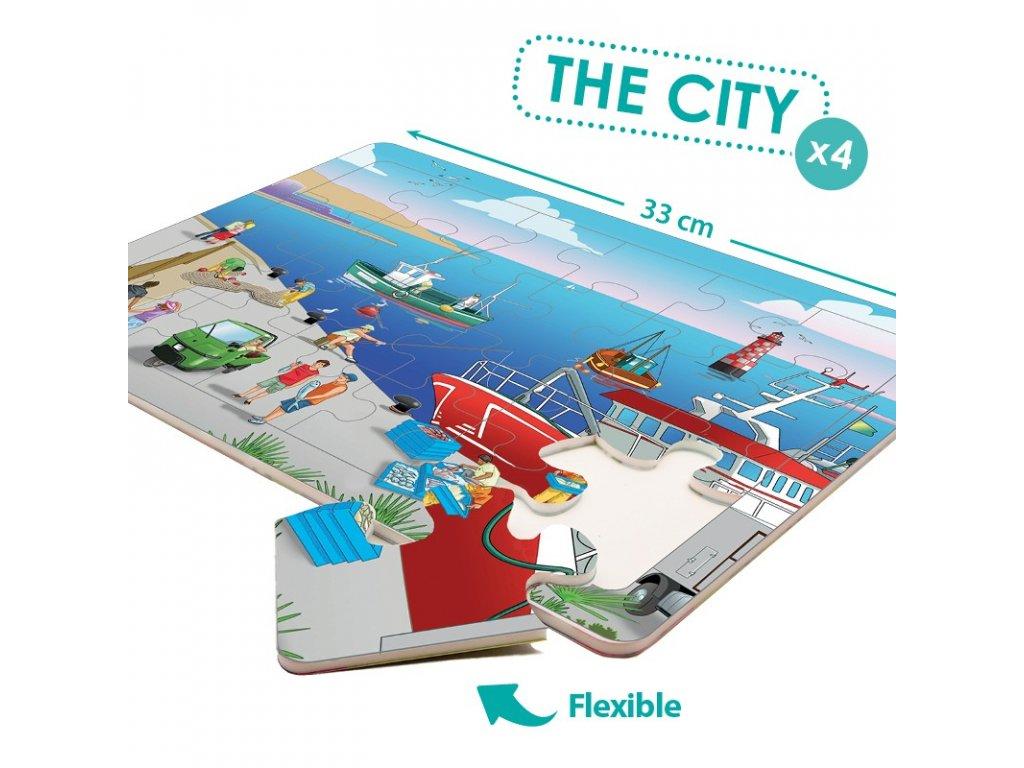 8544 set penovych puzzli mesto
