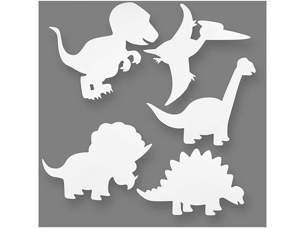 8631 papirove sablony ke kreativni tvorbe dinosauru 16 kusu