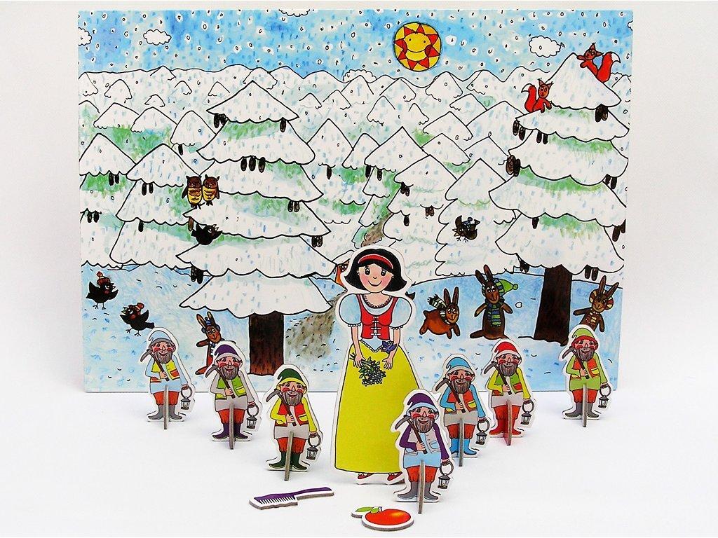 8715 velka loutkova pohadka s pozadim snehurka