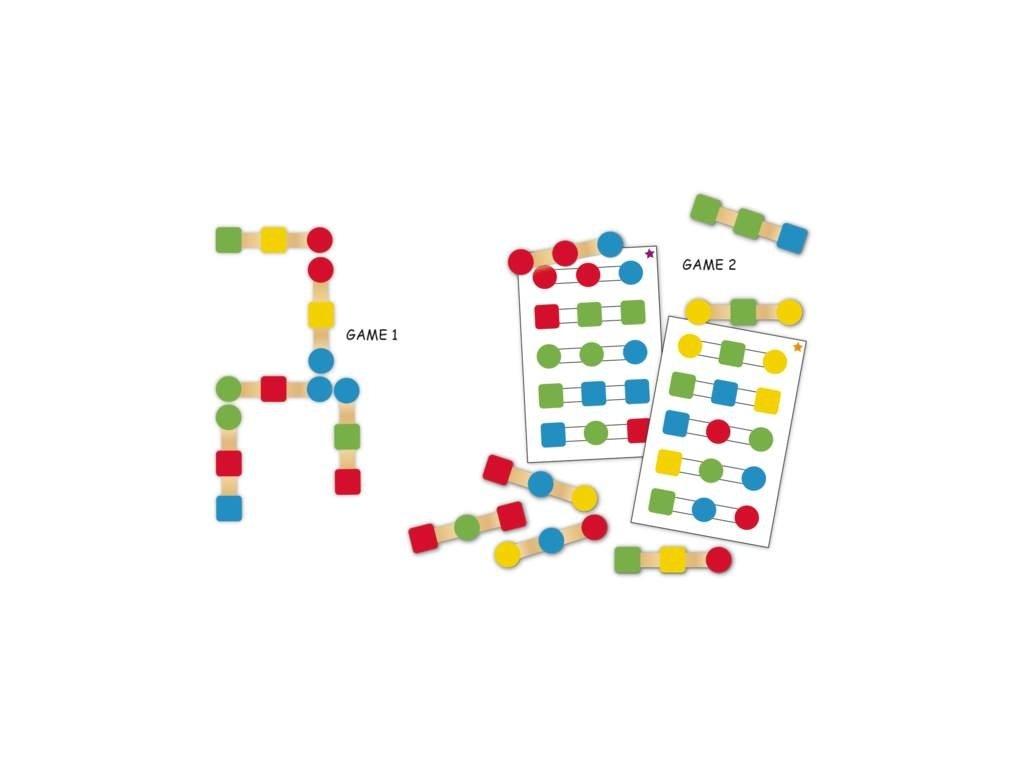 8949 hra s drevenymi lizatky na poznavani barev a trenovani pameti