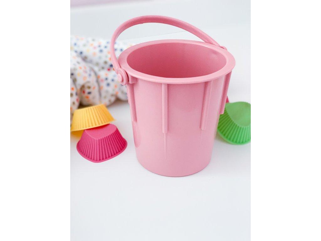 Kyblíček na písek z ekologického plastu - pastelově růžový