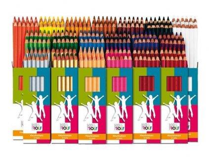 10421 barevne pastelky 12 kusu sirka 5 mm