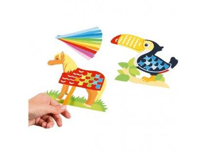 Papírový set k dotvoření - zvířátka