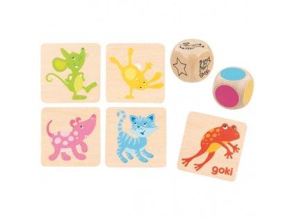 Paměťová společenská dřevěná hra se zvířátky