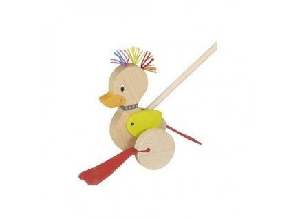 Dřevěná vodící kačenka Punk-Duck Goki