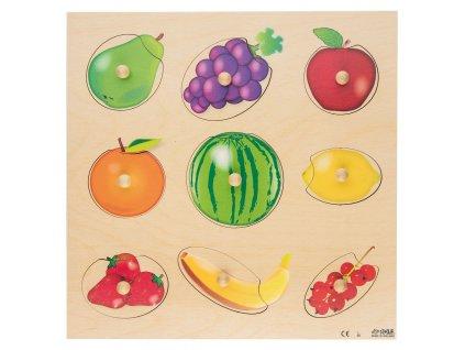 Velké dřevěné vkládací puzzle s ovocem Rolf