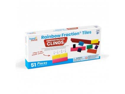 Vzdělávací pomůcka na zlomky - samodržící - Rainbow Fraction® Tiles Demonstration Clings