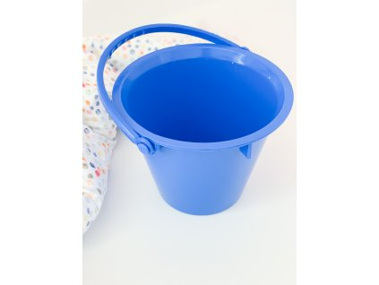 Velký kyblík k sítku modrý