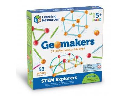 Zkoumáme geometrické tvary - Logická hra STEM Explorers: Geomakers Learning Resources