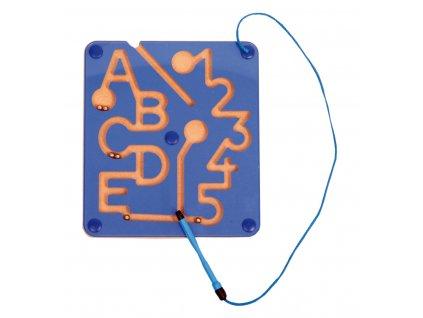 Magnetická hra ABC - dřevo, magnety - 25 x 22 cm