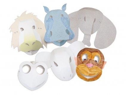 Kreativní sada: Masky – Divoká zvířata – 30ks