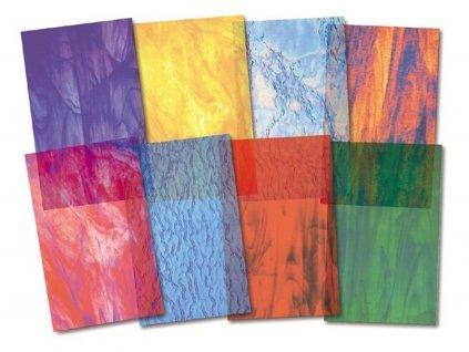 Barevný skleněný papír