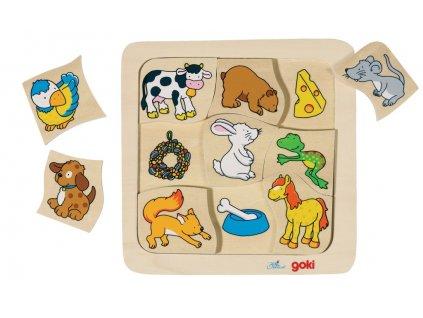 7435 co jedi zviratka puzzle 9 dilku 18 x 18 cm