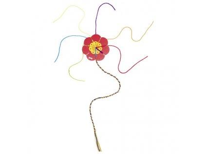 7453 kvetinka na tkani provazku 7 bavlnek 10 cm