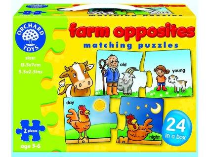 7576 na farme protiklady kartonove puzzle 24 x 2 dilky 13 5 x 7 cm