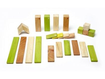 """Tegu - sada s magnetickými dřevěnými kostkami """"Jungle"""" (24ks)"""