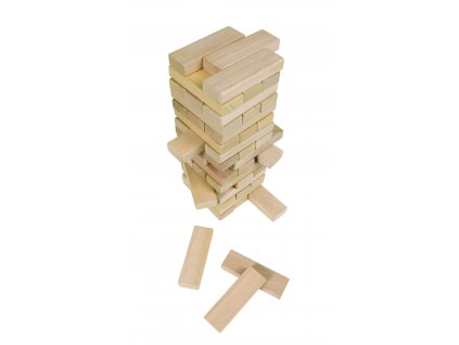 7669 balancni vez z drivek prirodni drevo 51 dilu 8 x 8 x 26 cm