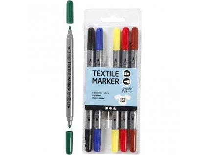 9141 fixy na textil oboustranne standartni barvy 6 kusu