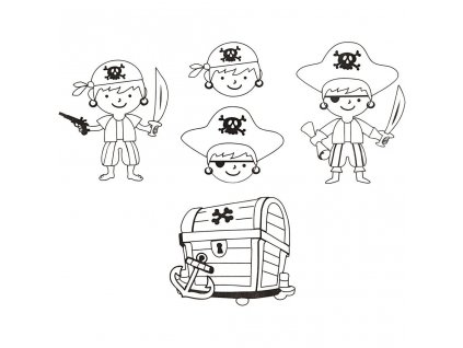 9150 smrstovaci folie s motivem pirata 4 listy