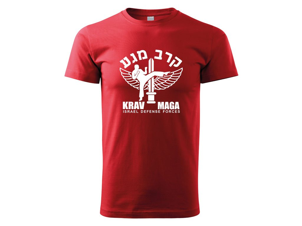 Triko Krav Maga Israel Defense Forces červené