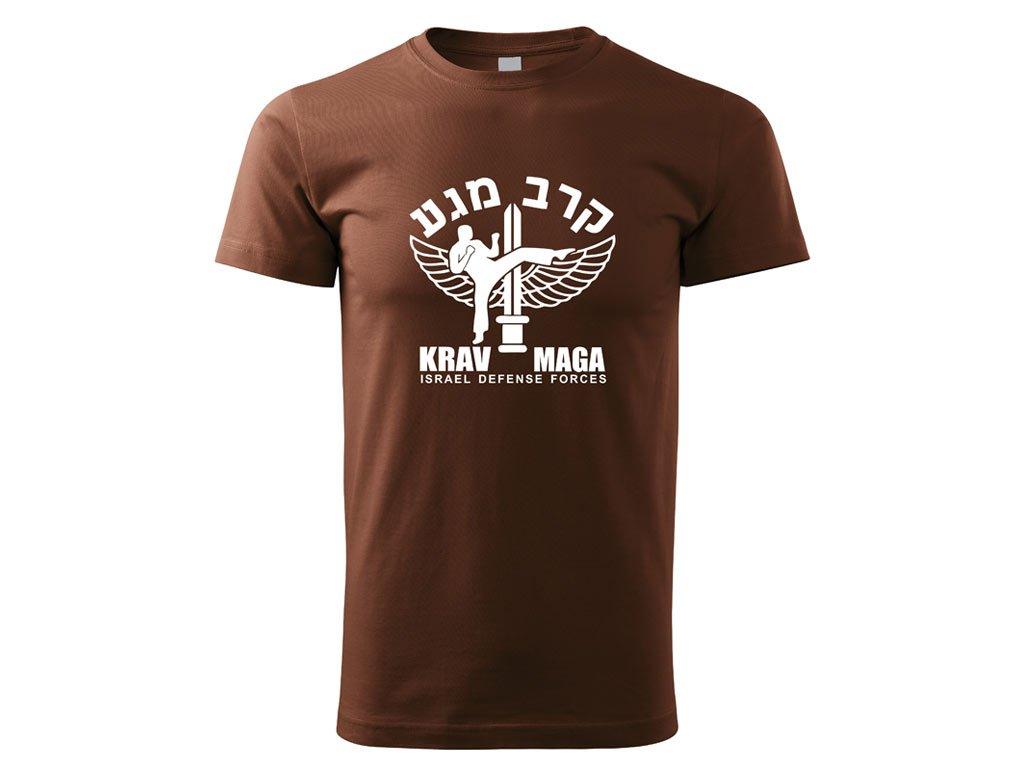 Triko Krav Maga Israel Defense Forces hnědé