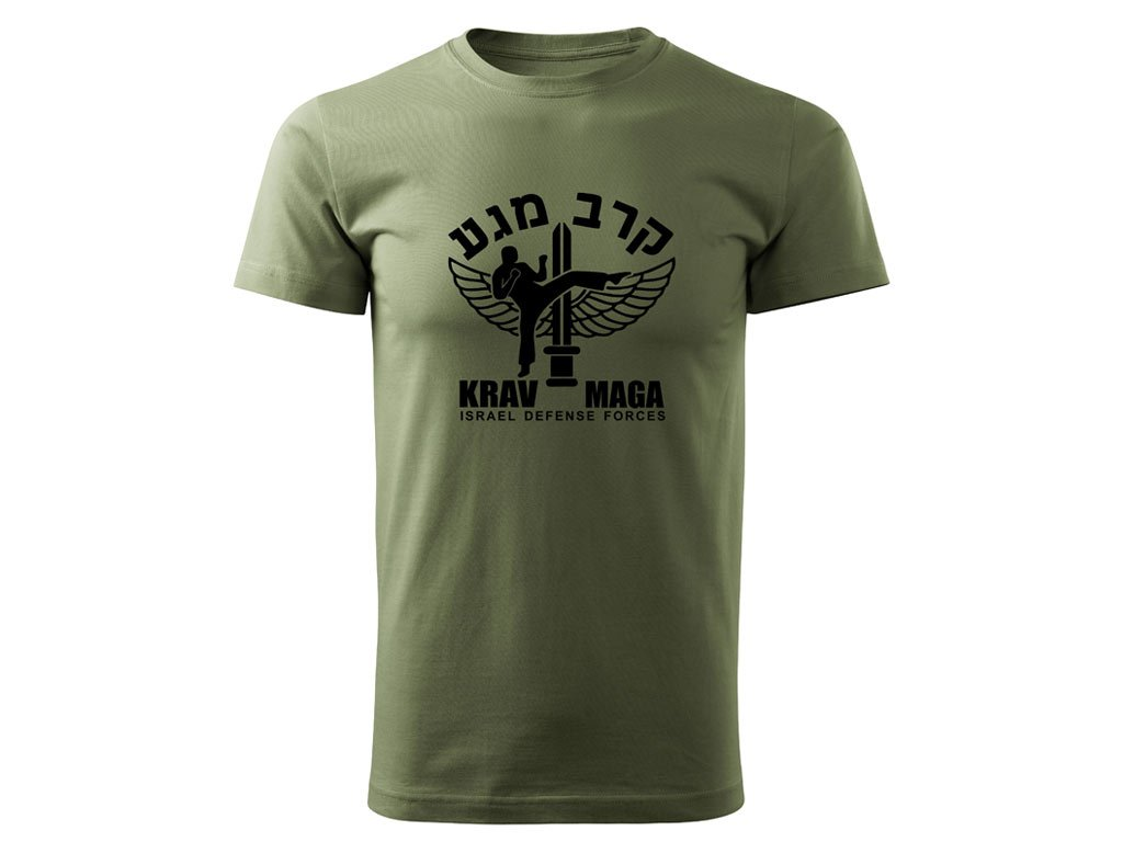 Triko Krav Maga Israel Defense Forces olivové