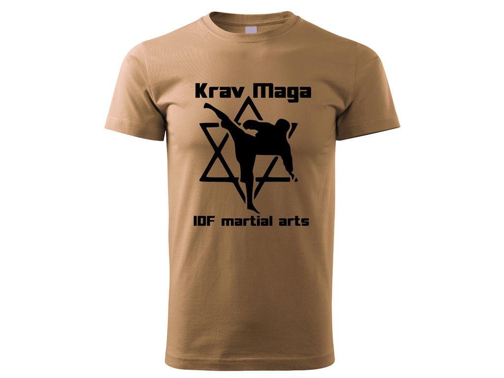 Triko Krav Maga Martial Arts pískové