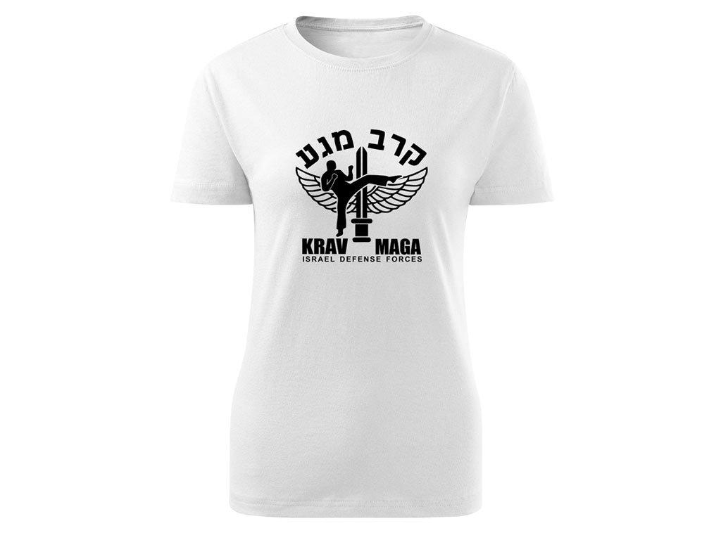 Triko Krav Maga Israel Defense Forces bílé dámské