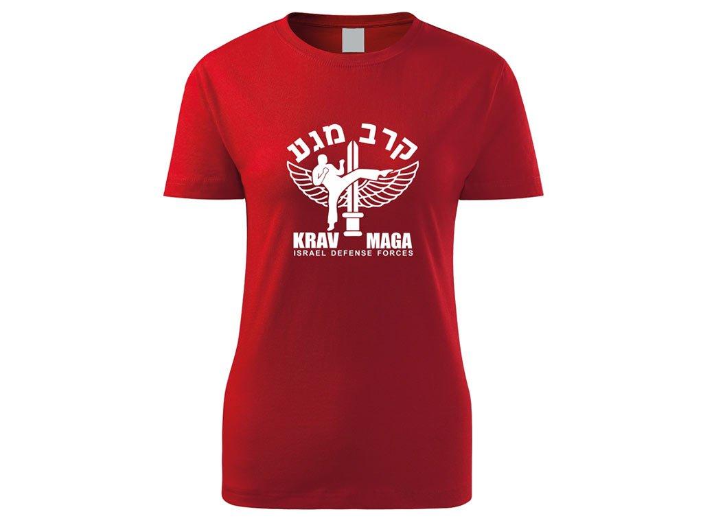 Triko Krav Maga Israel Defense Forces červené dámské