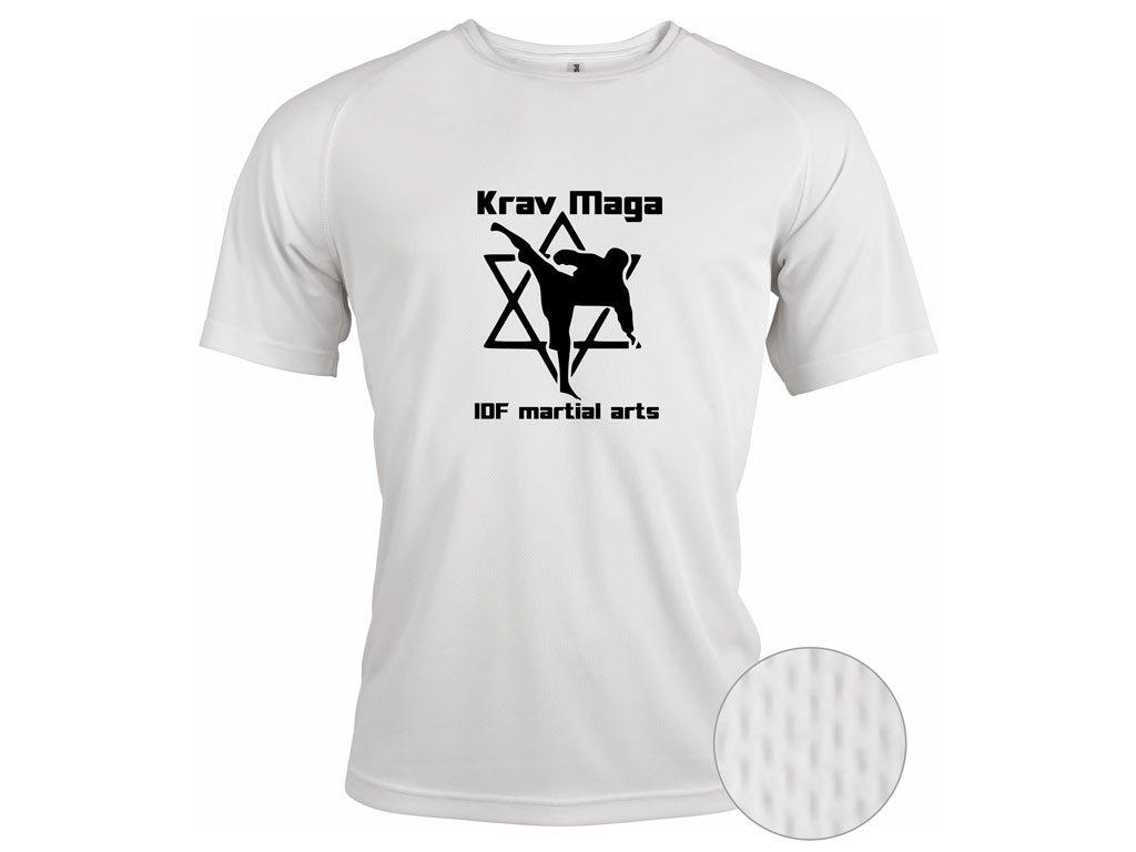 Funkční triko Krav Maga Martial Arts bílé
