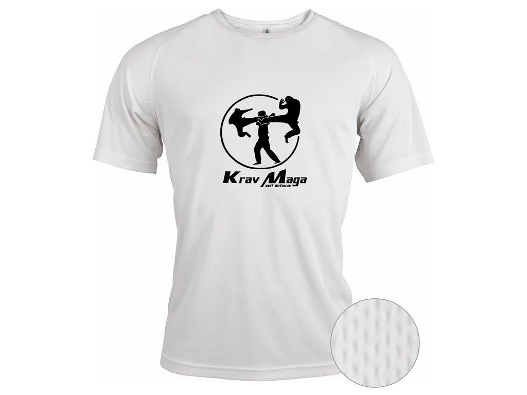 Funkční triko Krav Maga Self Defense bílé