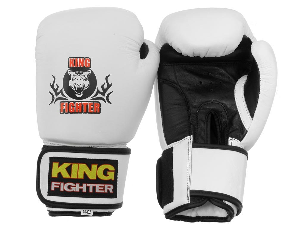Boxerské rukavice King Fighter bílé