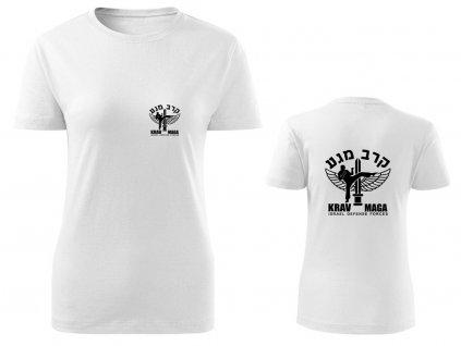 Dámské triko Krav Maga IDF bílé