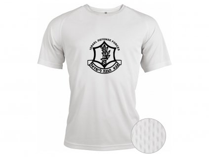 Funkční triko Krav Maga IDF Zahal bílé