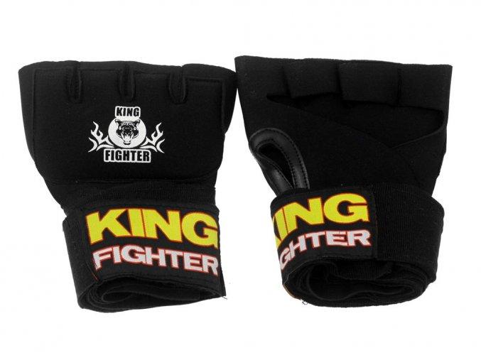 Gelové rukavice s bandážema 2,5 m černé