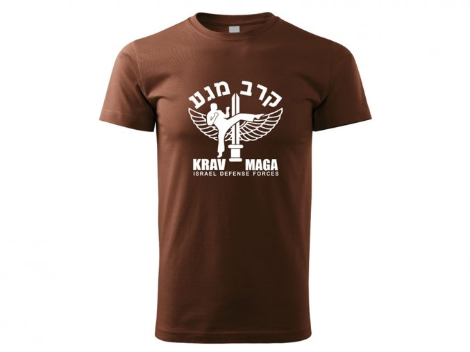 Triko Krav Maga Israel Defense Forces hnědé