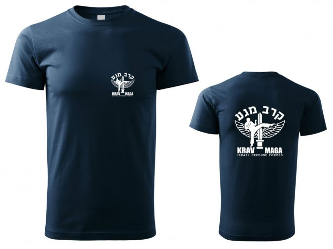 Pánské triko Krav Maga IDF modré