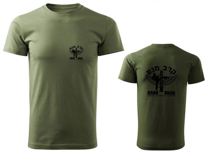 Pánské triko Krav Maga IDF olivové